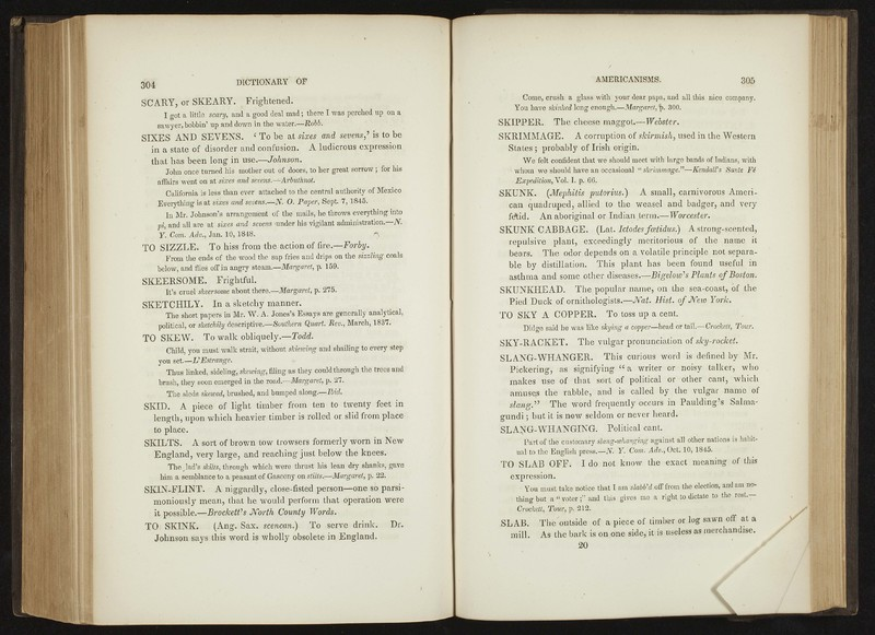 <em>Dictionary of Americanisms. A Glossary of Words and Phrases, Usually Regarded as Peculiar to the United States</em>