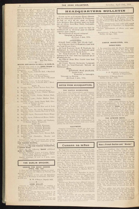<em>Irish Volunteer. </em>2, no. 71 (New Series)