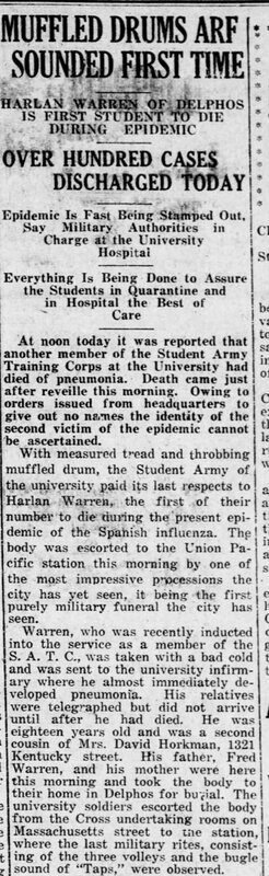 Lawrence Daily Journal World reports the first student death on campus