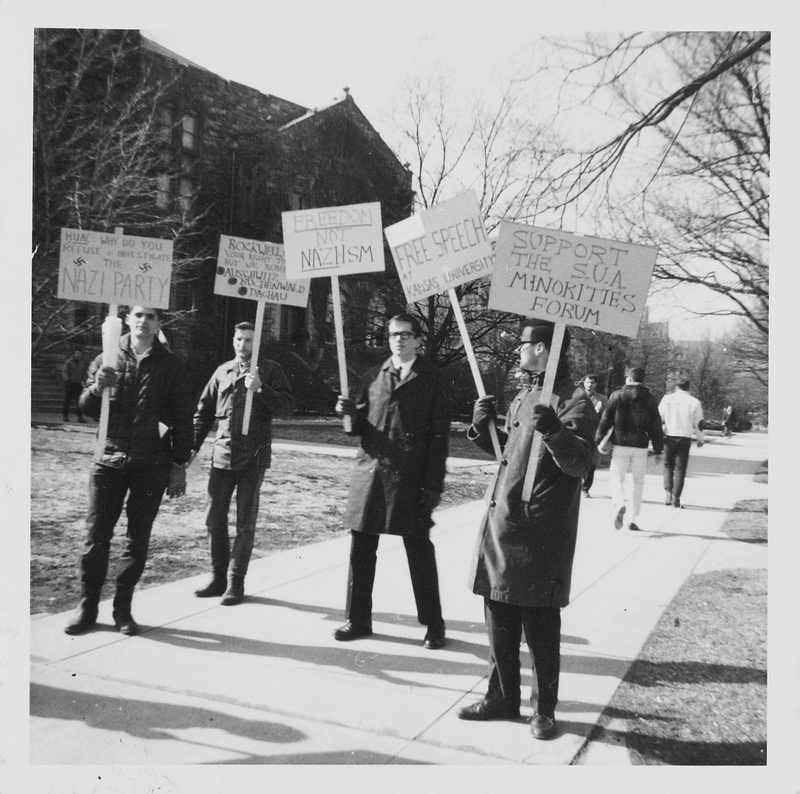 Student protestors, KU, 1964.