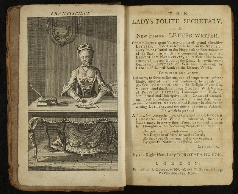 <em>The Lady's Polite Secretary, or New Female Letter Writer</em>