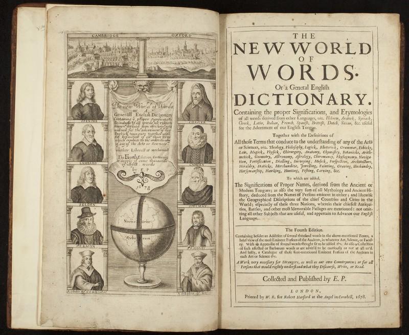 <em>The Nevv VVorld of VVords. Or a General English Dictionary</em>