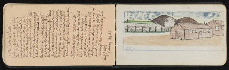Ballykinlar Internment Camp autograph book, County Down, Ireland [now Northern Ireland]