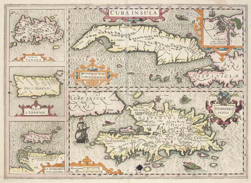 <em>Cuba insula, Hispaniola insula, Insula Iamaica, Ins. S. Ioannis, I.S. Margareta cum confiniis</em>