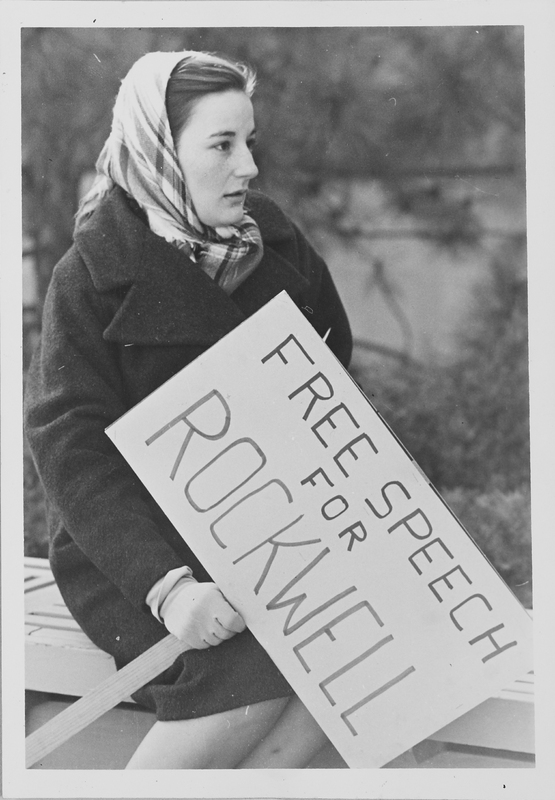Student protestor, KU, 1964.