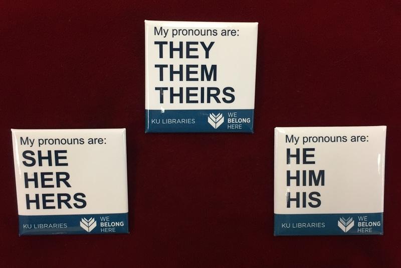 """""""My Pronouns Are:"""" pronoun pins"""