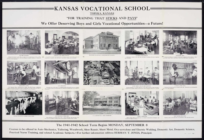 Kansas Vocational School poster, 1941-1942.