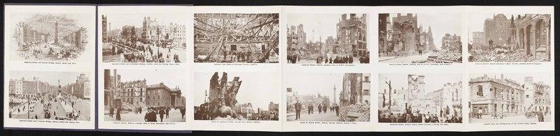 <em>Sinn Fein Revolt, 1916. Twelve Interesting Views; Showing the Ruins of Sackville Street and Adjoining Streets after the Rising</em>