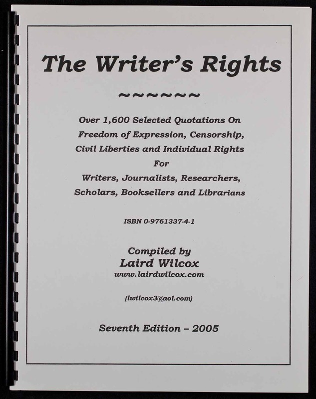 The Writer's Rights, Seventh Edition