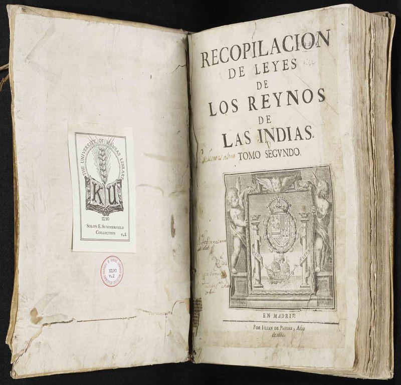 <em>Recopilaci&oacute;n de leyes de los reynos de las Indias</em>