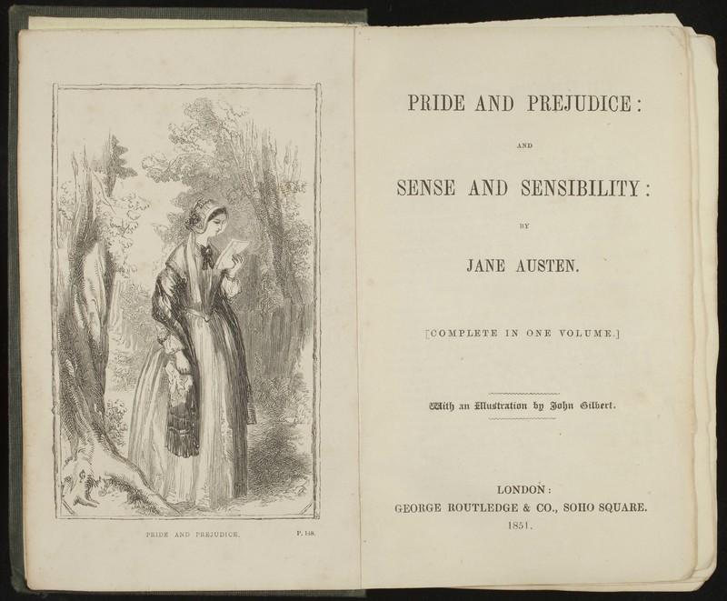 <em>Pride and Prejudice: and Sense and Sensibility ... With an illustration by John Gilbert</em>