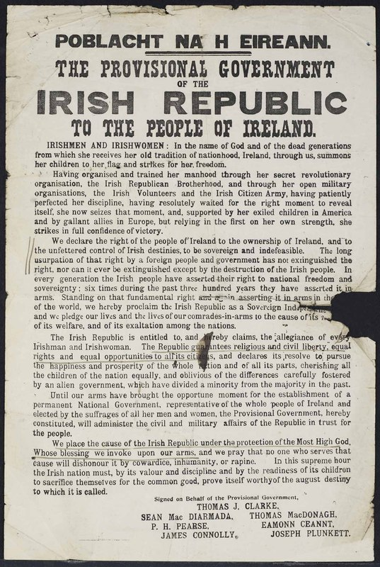 <em>Poblacht na h Eireann. The Provisional Government of the Irish Republic to the People of Ireland</em>