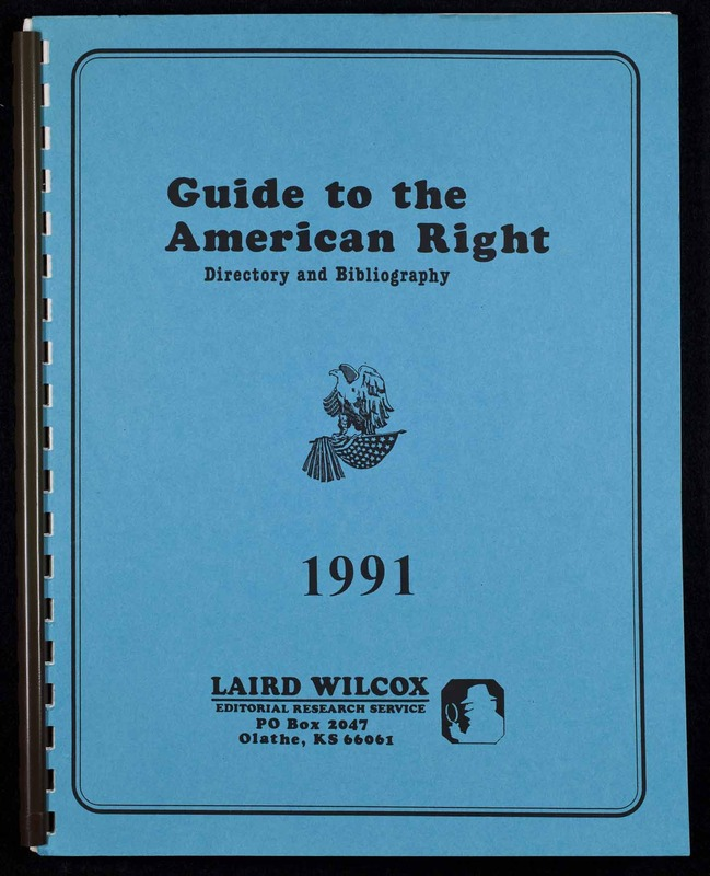 Guide to the American right : directory and bibliograph