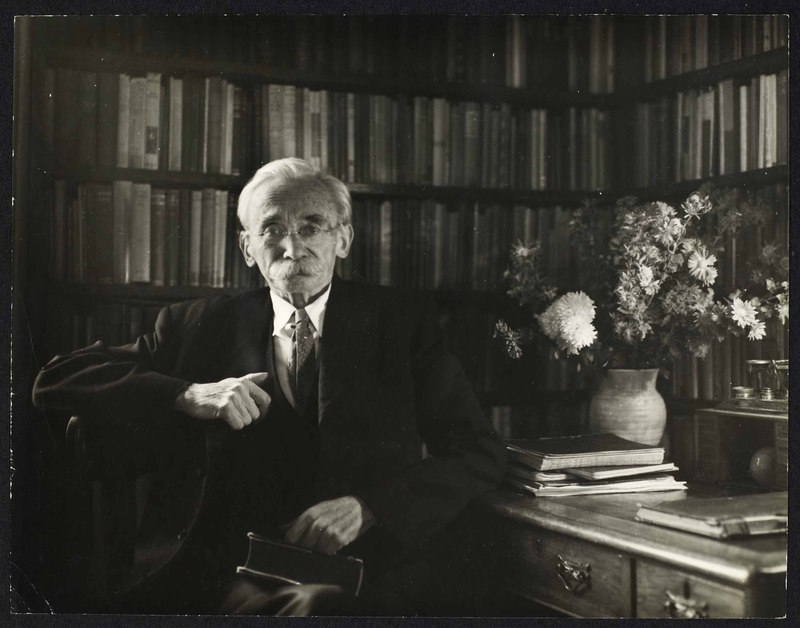 Photograph of P. S. O'Hegarty in his library