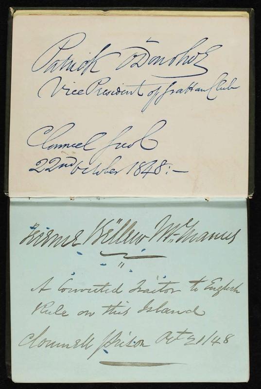Clonmel Gaol autograph book