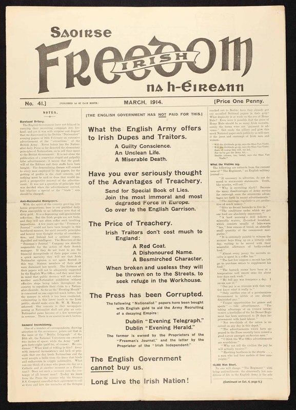 <em>Saoirse na h-Éireann; Irish freedom,</em>No. 41