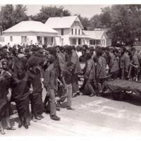 Rick Dowdell's Coffin Being Removed from the Funeral Carriage