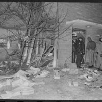 The outside damage to Summerfield Hall after a bomb exploded on Dec. 11