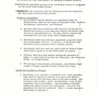 1969 Student Senate Bylaws