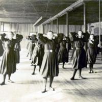 Women's gymnastics class
