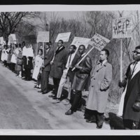 Michael G. Shinn and Gale Sayers, KU Student Protest Against Racial Discrimination in [Lawrence] Housing, 1965.