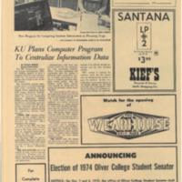 KU Plans Computer Program to Centralize Information Data Sept 18 1970