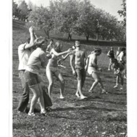Photo of students playing games on campus 1970