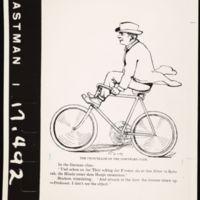 Cartoon Sketch of Chancellor Snow Riding his Bicycle