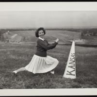 Ruth Krehbiel, KU Cheerleader, 1943-44
