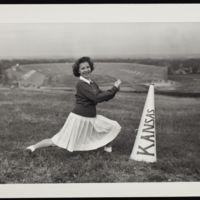 Ruth Krehbiel, KU Cheerleader, 1943-44