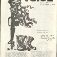 Nov. 1, 1972 issue of the Veteran's Voice published by the national Vietnam Veterans Against the War organization