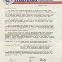 1978 letter from Michael G. Shinn and Jimmy Dumas, convening KU's Black Alumni Steering Committee meeting for 3rd year of activities.