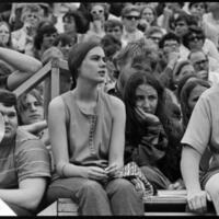 Day of Alternatives Photo of Student protesters in Memorial Stadium