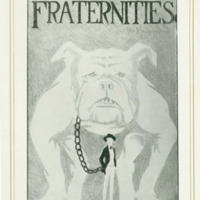 Fraternities page from the 1925 <em>Jayhawker Yearbook</em> featuring a bulldog