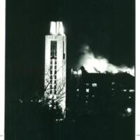 Memorial Union Fire at Night