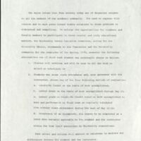 Statement of the Senate Executive Committee outlining the recommended alternatives, May 8 1970
