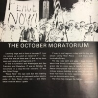 October Moratorium article from 1970 Jayhawker Annual