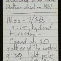 Reporter Tom Johnson's account of the night of July 20 and Nick Rice's death