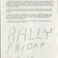 Black Student Union  Rally Flyer