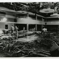 Interior damage of Memorial Union fire on first floor