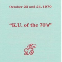 1970 Homecoming brochure