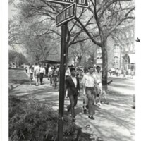 Photo of Students on campus 1970