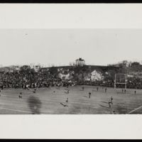 View of playing field and Mount Oread, 1910