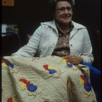 Quilt Featuring the 1923 Jayhawk , 1975