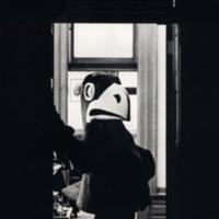 Jayhawk mascot at the Kansas Governor's Office, 1970s