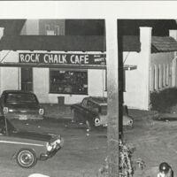 Rock Chalk Cafe under curfew, July 1970