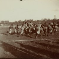 Football action in 1890