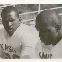 Michael G. Shinn and Gale Sayers, KU Football Teammates.