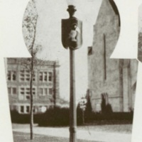 Image of a Jayhawk on a KU Campus Lamp Post, <em>Jayhawker</em> <em>Yearbook</em>, 1931