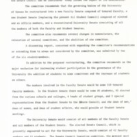 New Student Governance Press Release 1969